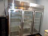Migoli 3-Glass Door Pull Door Cooler, 83'' Wide, 34'' Deep, 82'' Tall, Mode