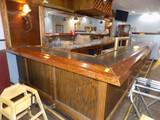 Fancy Wooden L-Shaped Bar w/ Laminate Top, 18'8'' & 6'9'' Small L-Piece, 25