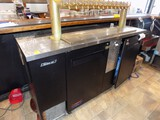 Turbo Aire - Dbl Door Keg Cooler with 14 Head Spigot for Tap System, 69'' W