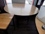 60'' Diam. Round Maple Type Wooden Top Dining Table