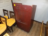 Cherry Colored Podium/Hostess Desk on 25'' Wide x 20'' Deep x 46'' Tall