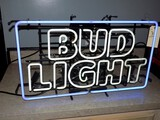 ''Budlight'' Neon Window Sign - 31''W x 18''T