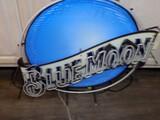 ''Blue Moon'' Neon Window, Not Working, 30''W x 27''T