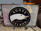 ''Goose Island'' Neon Window Sign - Broken Table, Not Working, 26''W x 18''