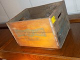 (2) Antique Wooden Advertising Crates On Wall, ''Hohneker's Dairy, N. Berge