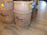 ''Genny Light'' Wooden Advertising 35 Gallon Barrell, No Top, 30'' Tall x 1