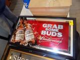 ''Budweiser - Grab Some Buds'' Wall Mirror, 33''W x 19''T
