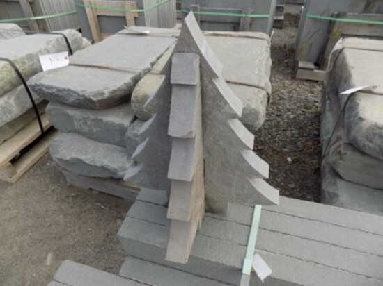 18'' Custom Cut Stone Pine Tree, 2 Pieces