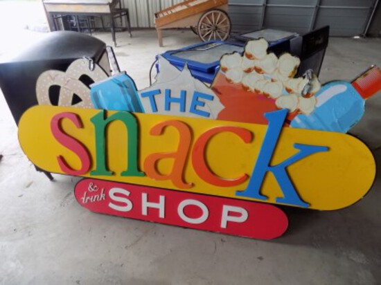 ''The Snack Shop'' 5' Wide Wooden Sign