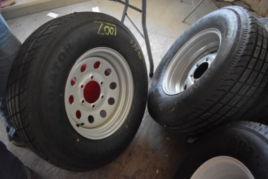 (2) 225-75-15'' SK 10-Ply On Rims (5540)