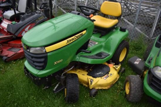 JD X320 Garden Tractor w/ 48'' Deck, Hydro, S/N 227122, 214 Hours (CT) (717
