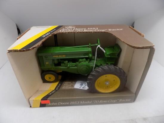 JD 70 - Row Crop Tractor, NFE, NIB, 1:16 Scale, by Ertl, Shelf Model