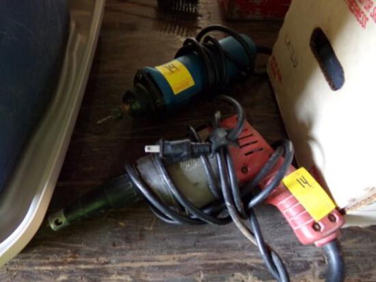 Milwaukee Drywall Gun & Ryobi Drywall Router