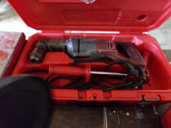 Milwaukee Right Angle Drill in Plastic Case