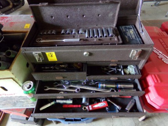 7-Drawer Kennedy Machinist Box - Well Stocked w/Hand Tools