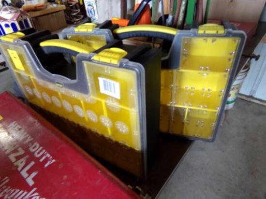(2) Black & Yellow Plastic Organizers  (2 x Bid Price)