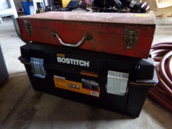 Empty Black Plastic Toolbox, Empty Milwaukee Recip. Saw Case