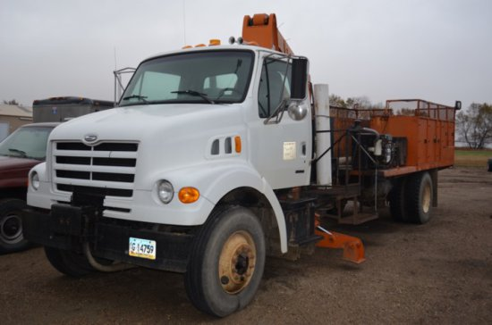 1999 Sterling sign truck w/reach all boom
