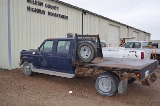 1993 Ford F-350 2WDXL dually, flat bed pickup