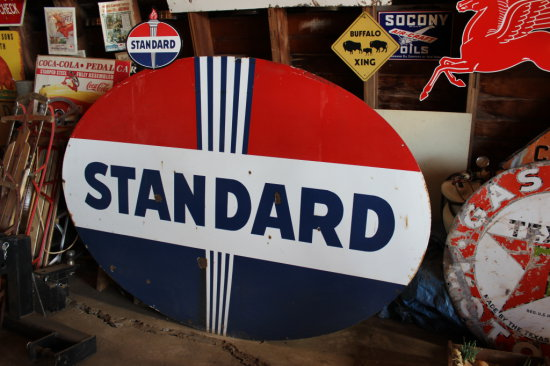 7' Standard Oil Sign, Double Sided, Oval