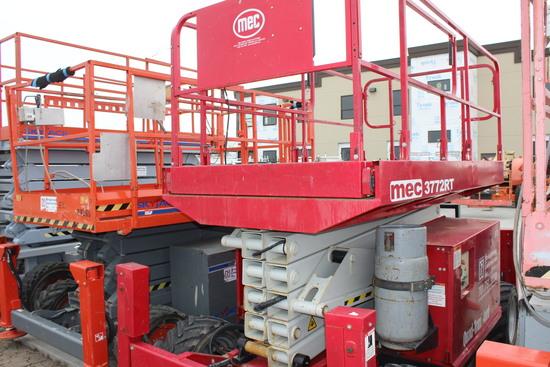 2012 Mec 3772 RT Scissor Lift