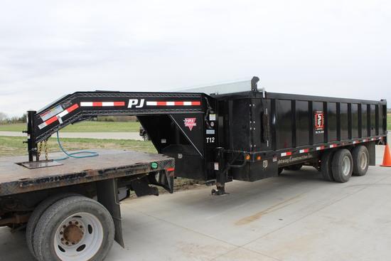 2016 PJ 20 Ft Gooseneck Dump