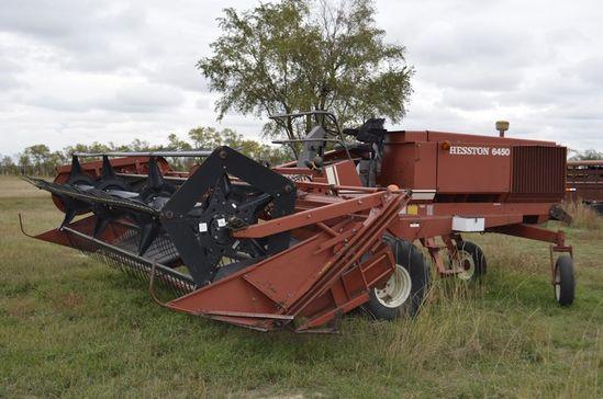 1982 Hesston 6450 Swather