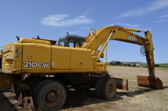 2005 John Deere 210 CW 4x4 Mobile Excavator