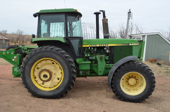 1987 JD 4450 MFWD Tractor