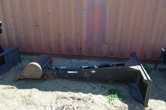 H & H skid steer hoe attachment