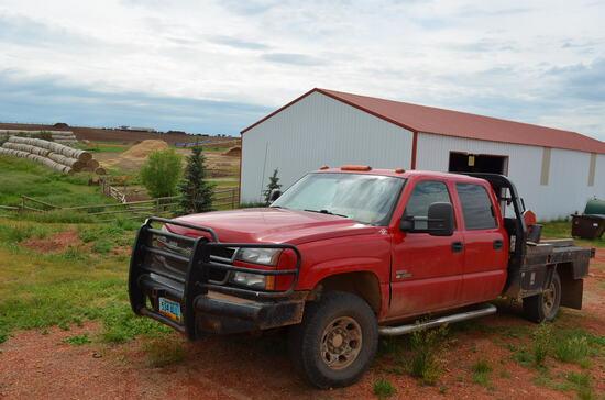 2006 Chevy 3500 Duramax 4-Door Red Pickup