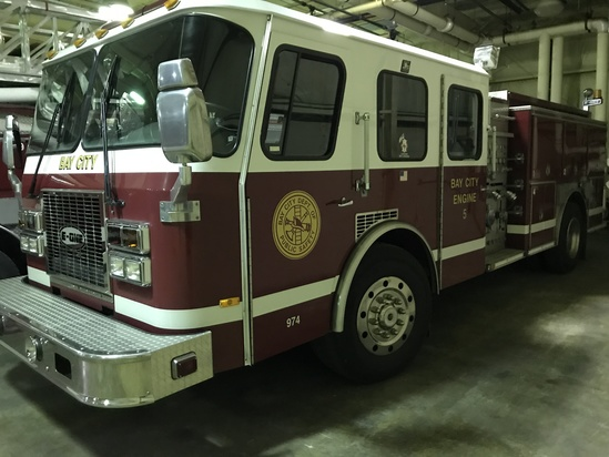 1996 E-One 750 gal. Fire Pumper Truck