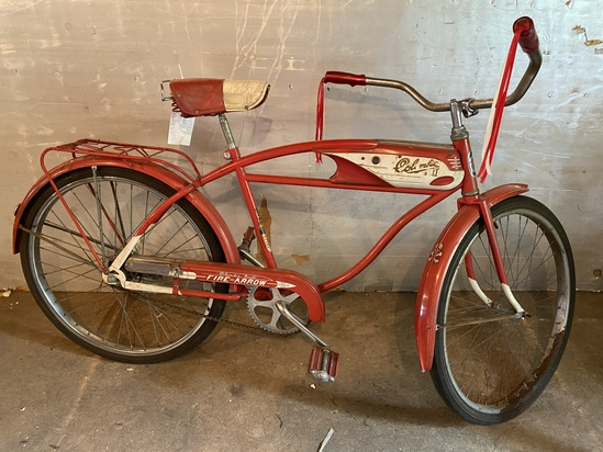 "1950's Columbia Fire-Arrow ""Yellow Band"" 2-Speed Coaster Bike"