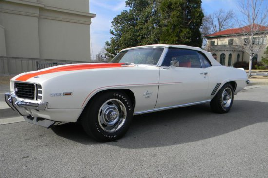 1969 CHEVROLET CAMARO INDY PACE CAR RS/SS CONVERTIBLE