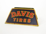 1950s DAVIS TIRES TIN AUTOMOTIVE GARAGE DISPLAY SIGN
