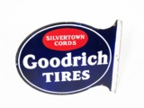 1930S GOODRICH TIRES PORCELAIN FILLING STATION SIGN
