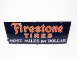1930S FIRESTONE TIRES PORCELAIN AUTOMOTIVE GARAGE SIGN