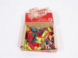 CIRCA 1940S TRAVEL TOYS AND GUMBALLS SERVICE STATION COUNTERTOP DISPLAY