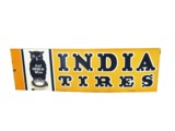 1930S INDIA TIRES PORCELAIN GARAGE SIGN