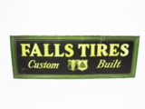 LATE 1920S-EARLY 30S FALLS TIRES TIN GARAGE SIGN