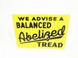 1953 WE ADVISE A BALANCED ABELIZED TREAD AUTOMOTIVE GARAGE SIGN