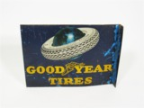 EARLY 1930S GOODYEAR TIRES TIN FLANGE SIGN