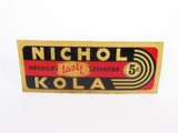 1930S NICHOL KOLA EMBOSSED TIN GARAGE SIGN