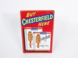 1950S CHESTERFIELD CIGARETTES TIN SIGN
