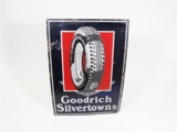 1930S GOODRICH SILVERTOWN TIRES PORCELAIN SERVICE STATION SIGN