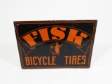 CIRCA 1930S-40S FISK BICYCLE TIRES TIN SIGN