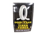 1920S GOODYEAR TIRES-TUBES-ACCESSORIES SELECTED DEALER PORCELAIN GARAGE SIGN