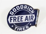 1920S-30S GOODRICH TIRES PORCELAIN AUTOMOTIVE GARAGE FLANGE SIGN