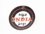 CIRCA 1930S INDIA TIRES PORCELAIN AUTOMOTIVE GARAGE SIGN