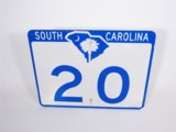 SOUTH CAROLINA HIGHWAY 20 METAL ROAD SIGN